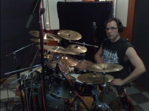 Mikko with his drums